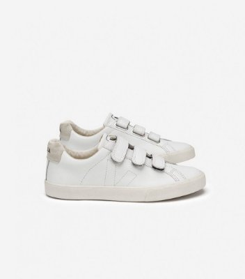 Tênis Esplar Velcro Couro Extra White Pierre