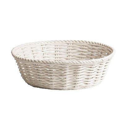 Cesto de Pão Porcelana Branca Estetico Quotidiano