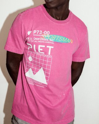 RE-SPORTS T-SHIRT MAGENTA PIET