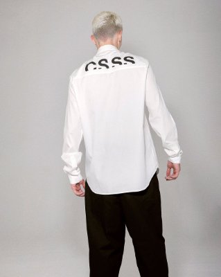 Camisa oversized off-white