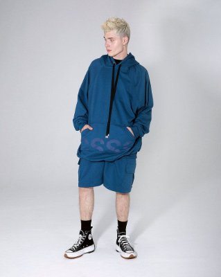 Blusa moletom oversized azul