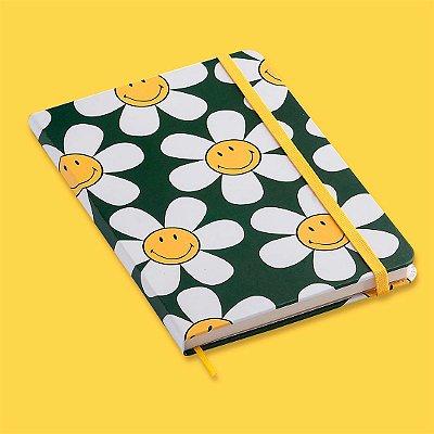 Caderneta Smiley Margarida Verde