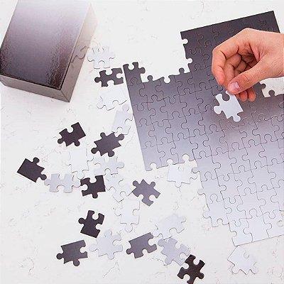 Gradient Puzzle Pequeno - 100 peças (Black/White)