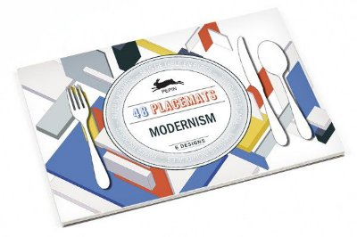 MODERNISM PAPER PLACEMAT PADS 6 DESIGNS