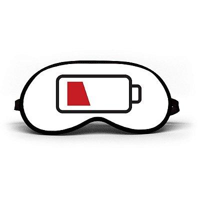 Máscara de Dormir Personalizada Pilha Descarregada