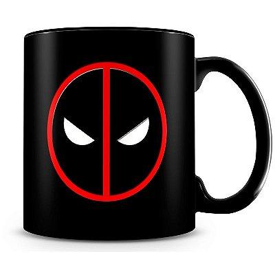 Caneca Personalizada Porcelana Deadpool (100% Preta)
