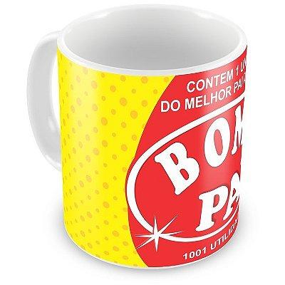 Caneca Personalizada Porcelana Bom Pai Bombril