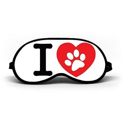 Máscara de Dormir Personalizada I Love Dog