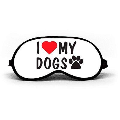 Máscara de Dormir Personalizada I Love Dog My Dogs