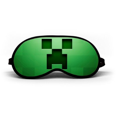 Máscara de Dormir Personalizada Minecraft