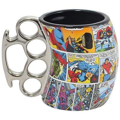 Caneca Soco Inglês Heróis Comics