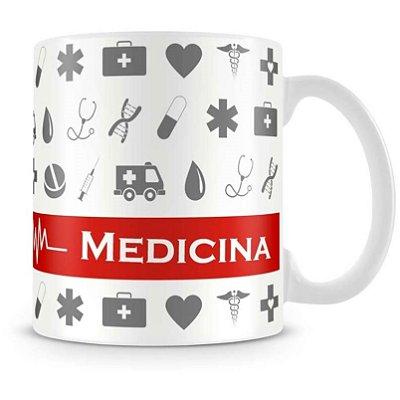 Caneca Personalizada Porcelana Profissão Medicina