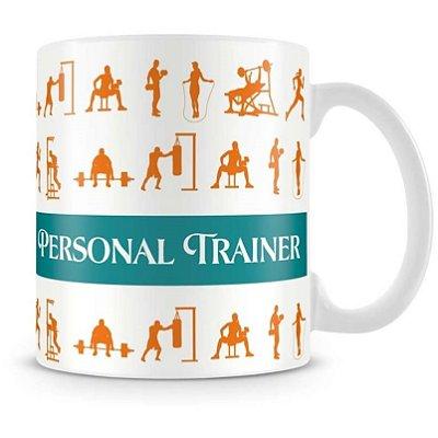 Caneca Personalizada Porcelana Profissão Personal Trainer