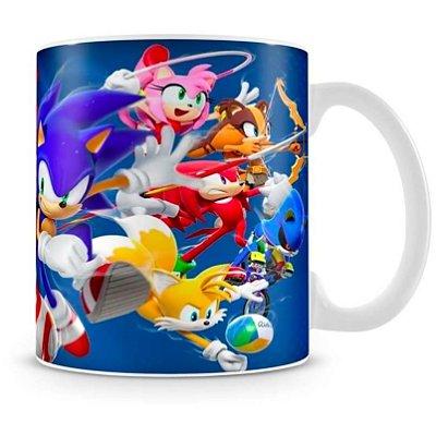 Caneca Personalizada Porcelana Sonic Modalidades Olímpicas