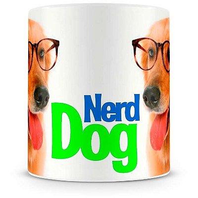 Caneca Personalizada Porcelana Nerd Dog