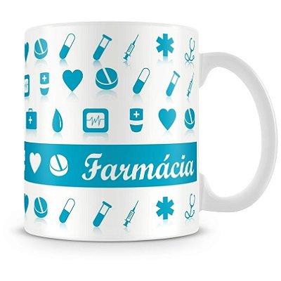 Caneca Personalizada Porcelana Profissão Farmácia (Mod.1)