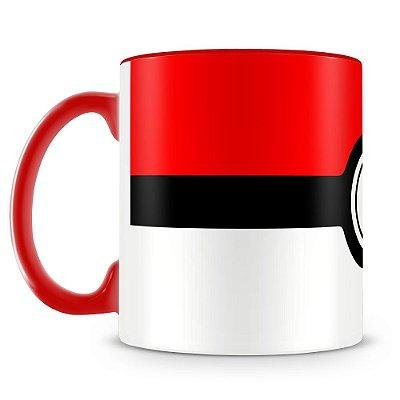 Caneca Personalizada Porcelana Pokémon Pokebola (Vermelha)