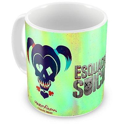 Caneca Personalizada Porcelana Arlequina Esquadrão Suicida