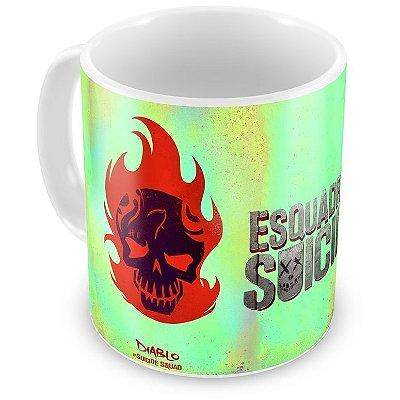 Caneca Personalizada Porcelana Diablo Esquadrão Suicida