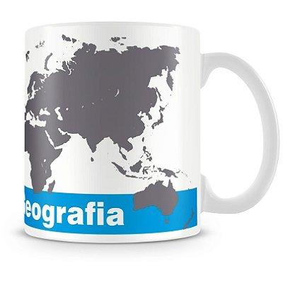 Caneca Personalizada Porcelana Profissão Geografia