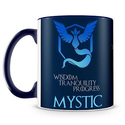 Caneca Personalizada Porcelana Time Mystic Pokémon Go (Azul)