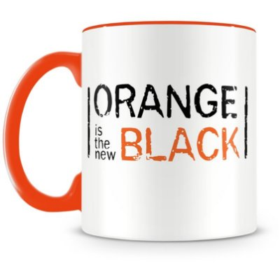 Caneca Personalizada Porcelana Orange is the New Black - Laranja (Mod.2)
