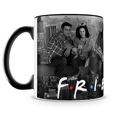 Caneca Personalizada Porcelana Friends (Preta)
