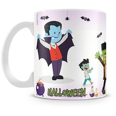 Caneca Personalizada Porcelana Halloween Dia das Bruxas (Mod.1)