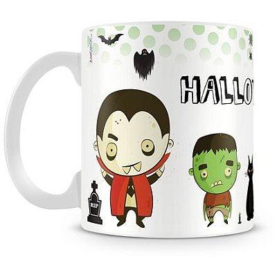 Caneca Personalizada Porcelana Halloween Dia das Bruxas (Mod.2)