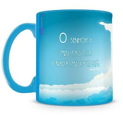 Caneca Personalizada Porcelana Cristo Redentor (100% Azul)