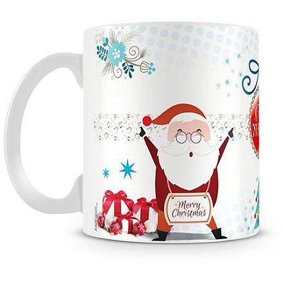 Caneca Personalizada Porcelana Feliz Natal (Mod.1)