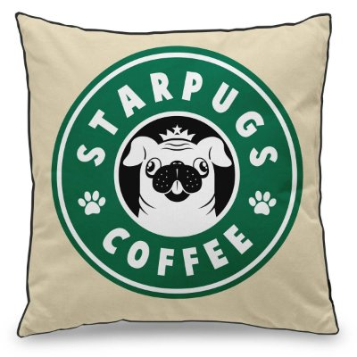 Almofada Personalizada StarPugs Coffee
