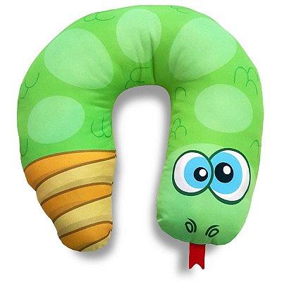 Almofada Personalizada de Pescoço Cobrinha Cascavel Verde