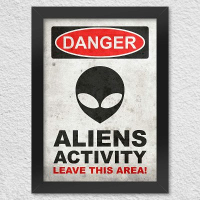 Quadro Poster Danger Aliens Activity