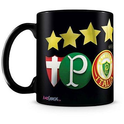 Caneca Personalizada Porcelana Palmeiras Futebol Clube (Preta)