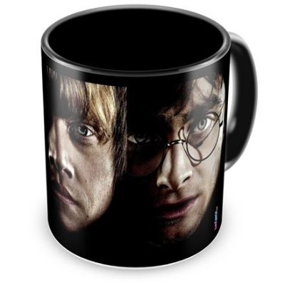 Caneca Personalizada Porcelana Harry Potter Preta (Mod.2)