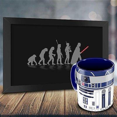 Caneca Personalizada R2D2 + Quadro Evolução Geek