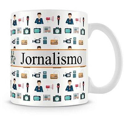 Caneca Personalizada Porcelana Profissão Jornalismo (Com Nome)