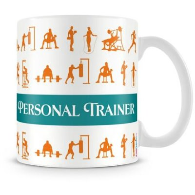 Caneca Personalizada Porcelana Profissão Personal Trainer (Com Nome)