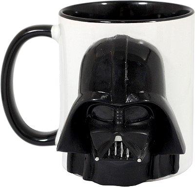 Caneca Personalizada 3D Capacete Darth Vader Star Wars