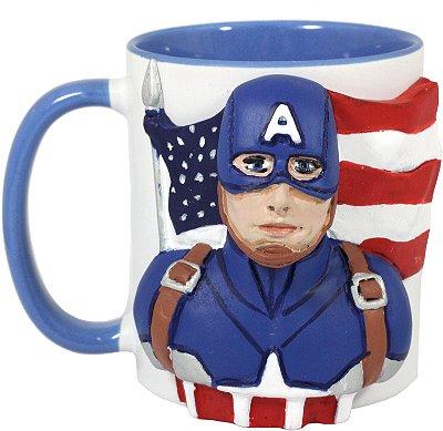 Caneca Personalizada 3D Capitão América