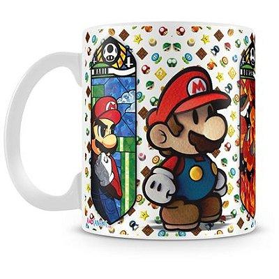 Caneca Personalizada Porcelana Mario e Luigi