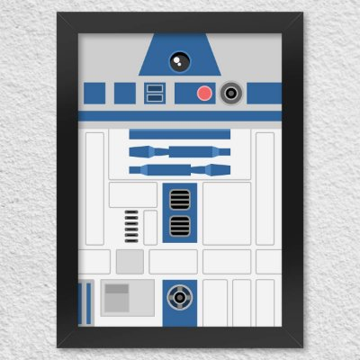 Quadro Poster Geek Side Face R2D2