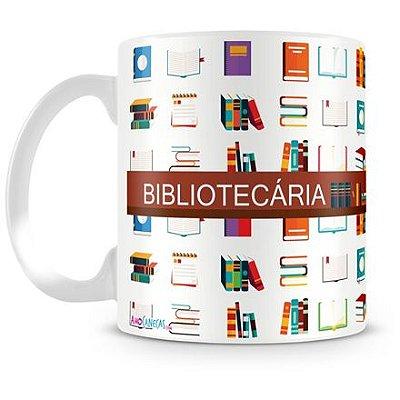 Caneca Personalizada Porcelana Profissão Bibliotecária