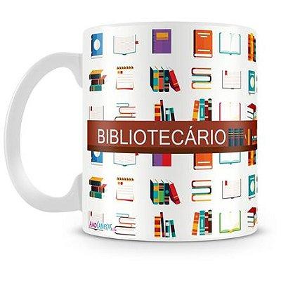 Caneca Personalizada Porcelana Profissão Bibliotecário