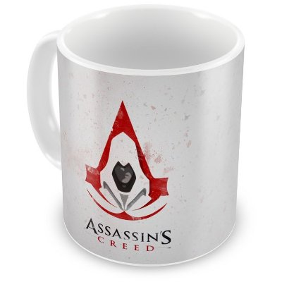 Caneca Personalizada Porcelana Assassin's Creed White