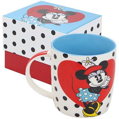 Caneca Personalizada Porcelana Minnie Coração