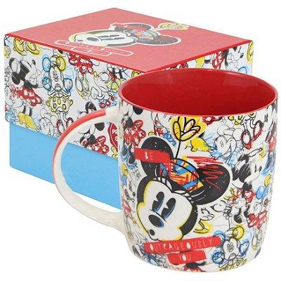 Caneca Personalizada Porcelana Minnie Crayon
