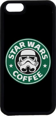 Capinha para Celular iPhone 6 Star Wars Coffee
