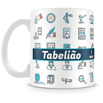 Caneca Personalizada Porcelana Profissão Tabelião